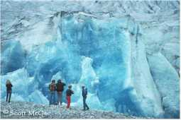 The calving face of the Mendenhall Glacier
