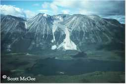 The Atlin Mountain rock glacier in Atlin, B.C.