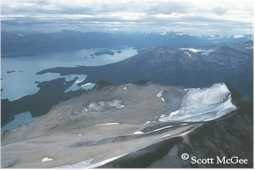 A dramatic example of a dying glacier